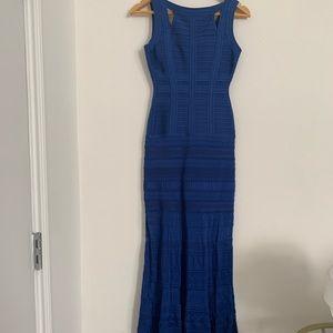 Herve Leger Size XS Women's Gown Blue Knit